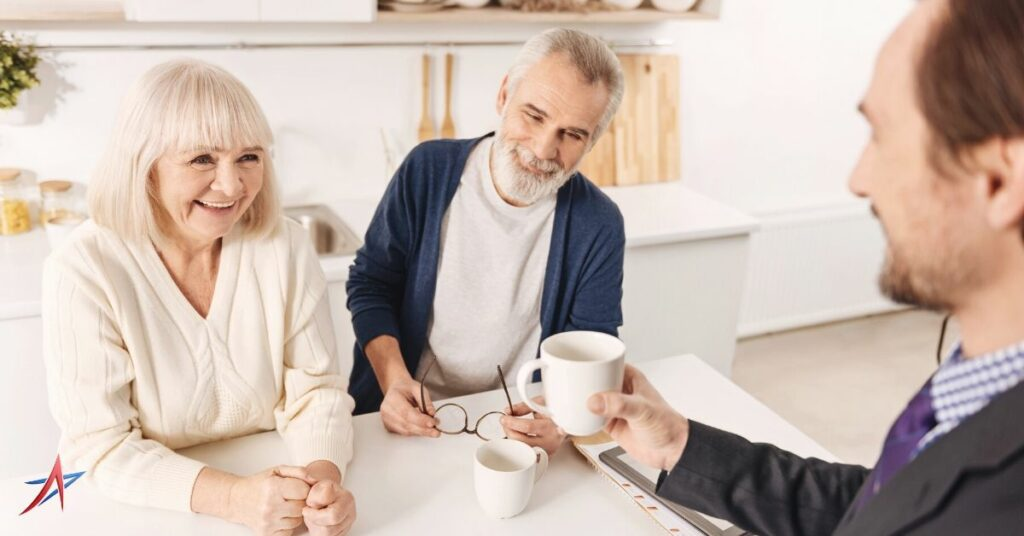 insurance agent learning to build client trust with seniors