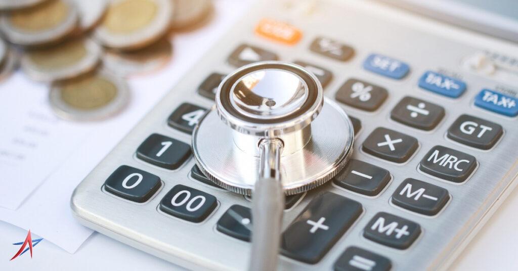 stethoscope and calculator