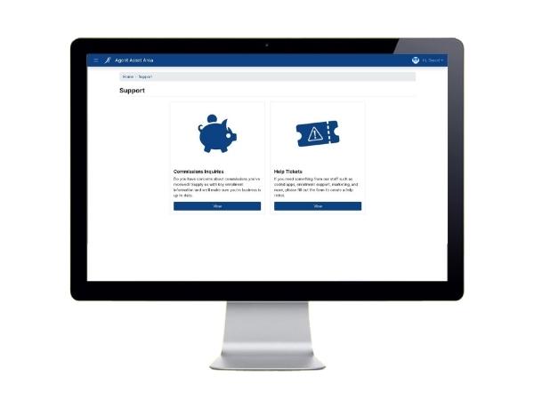 screenshot of help center in a3 dashboard