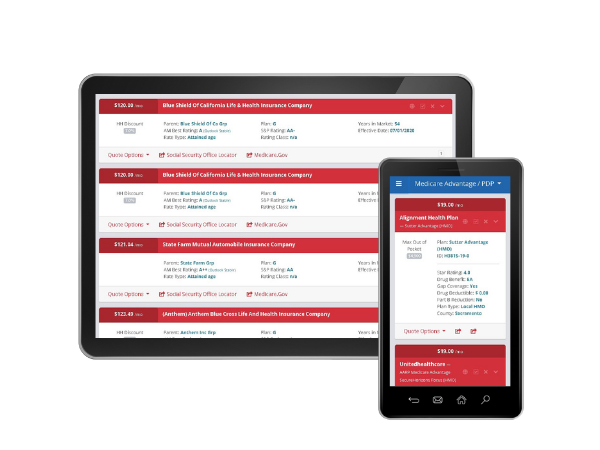medicare quoting tool on mobile